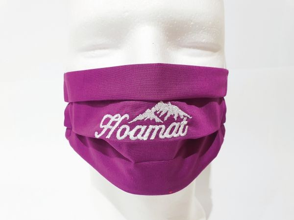 Nasen-Mund-Maske Kinder Hoamat pink
