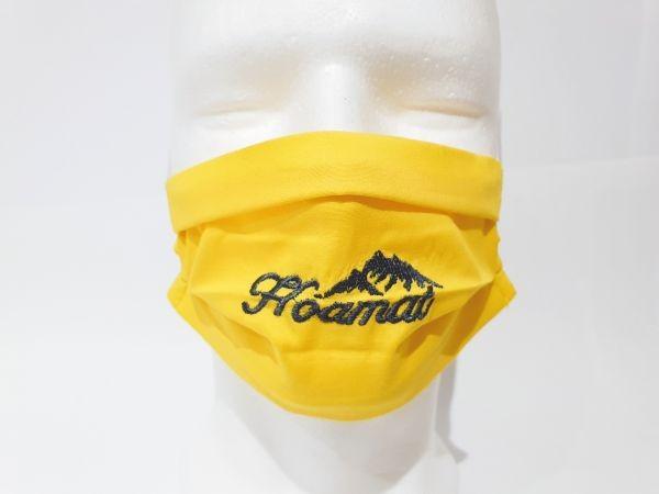 Nasen-Mund-Maske Kinder Hoamat gelb